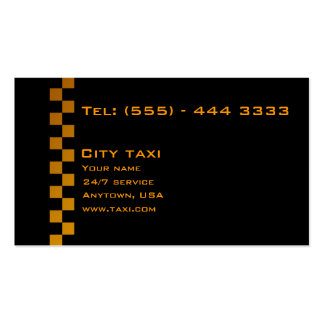 Simple Black In Gold Letters Taxi Service Card Business Card