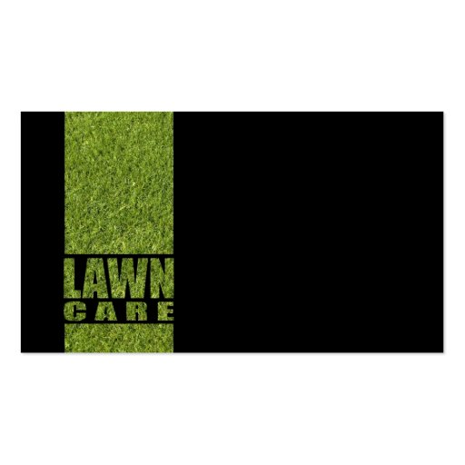 Simple Black Lawn Care Grass Card Business Card Template