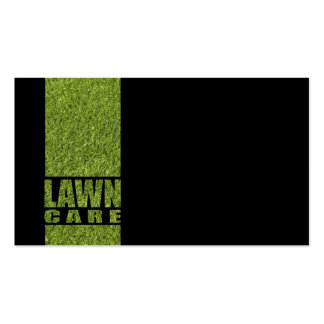 Simple Black Lawn Care Grass Card Double-Sided Standard Business Cards (Pack Of 100)