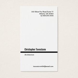 Simple Black Line Vertical Business Card