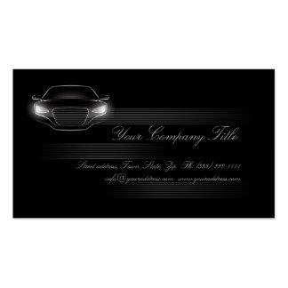 Simple Black Luxury Car Company Business Card QR