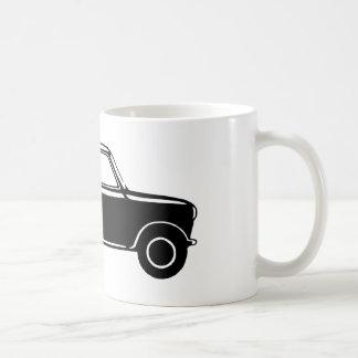 Simple Black Mini Classic White Coffee Mug