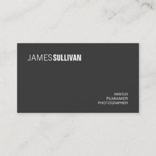 simple black modern creative professional business card - Filmmaker Business Card