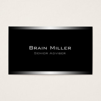 Simple Black Modern Professional Business Card