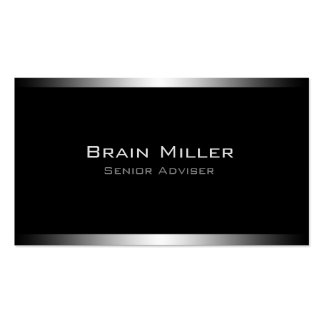 Simple Black Modern Professional Double-Sided Standard Business Cards (Pack Of 100)