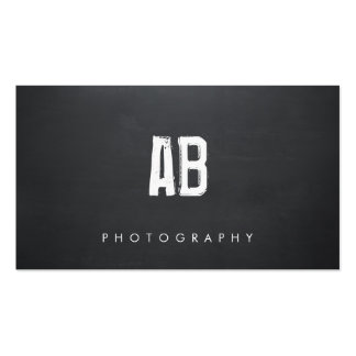 Simple Black Monogram, Cool Hip and Edgy, Business Card Template