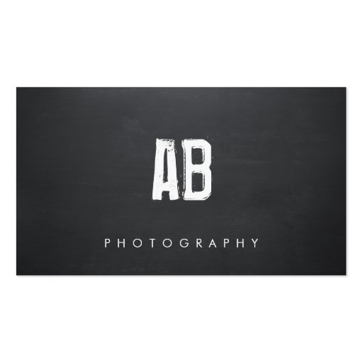 Simple black monogram cool hip and edgy business card for Edgy business cards