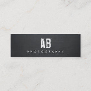 Hip business cards templates zazzle simple black monogram cool hip and edgy mini business card colourmoves