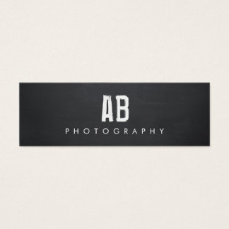 Simple Black Monogram, Cool Hip and Edgy, Mini Business Card