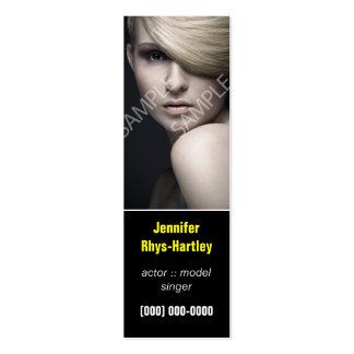 Simple Black Panel Headshot Business Card Template