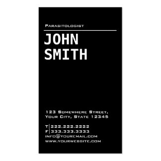 Simple Black Parasitology Business Card
