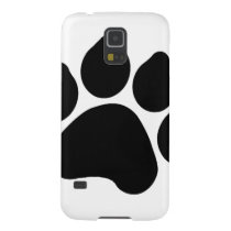 SImple Black Paw Print ANIMAL LOVER Case For Galaxy S5