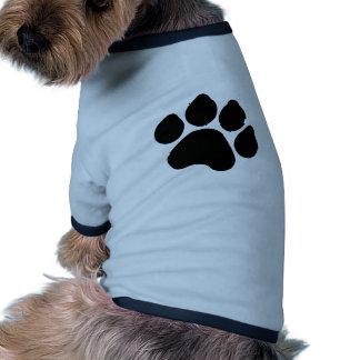 SImple Black Paw Print ANIMAL LOVER Dog Tshirt