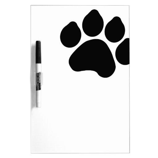 SImple Black Paw Print ANIMAL LOVER Dry-Erase Board