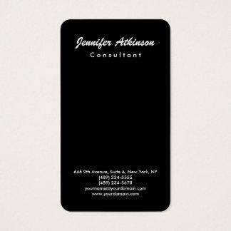 Simple Black Plain Brush Script Minimalist Modern Business Card
