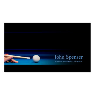 Simple Black Pro Pool Player/Coach Card Business Card Templates