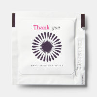 Simple Black Star Pattern Thank You Hand Sanitizer Packet