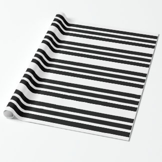 Simple Black Stripe Wrapping Paper