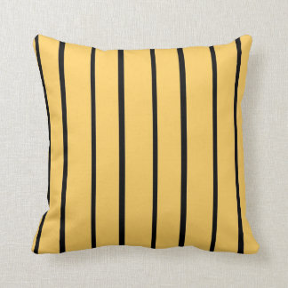 Simple Black Striped Abstract Throw Pillow