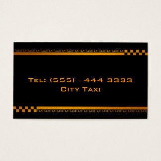 Simple Black Taxi Service Business Card