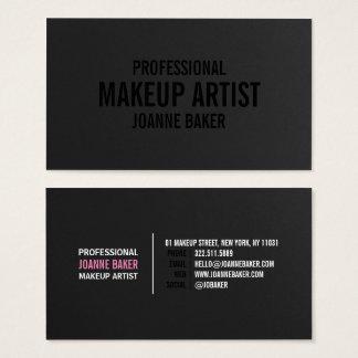 Simple black texture elegant makeup artist modern business card