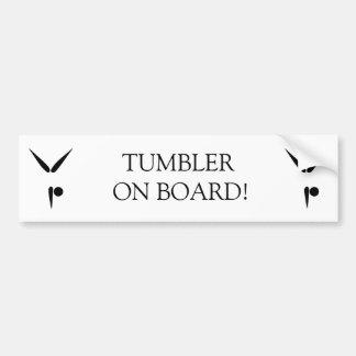 Simple Black Tumbler Gymnast Gymnastics Symbol Bumper Sticker
