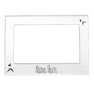 Simple Black Tumbler Gymnast Gymnastics Symbol Magnetic Frame