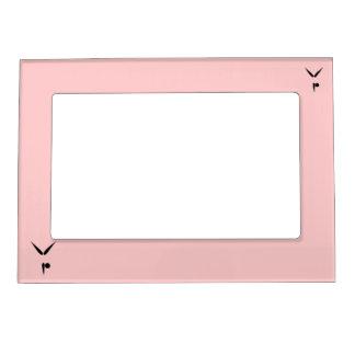 Simple Black Tumbler Gymnast Gymnastics Symbol Magnetic Picture Frame