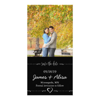Simple Black wedding Save the Date Card