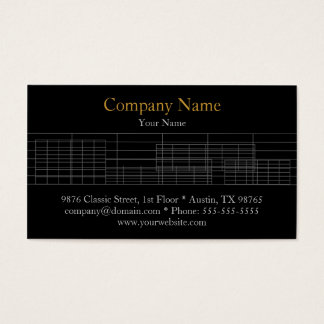 Simple Black White Architect Business Card