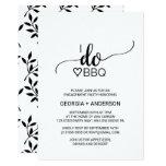 Simple Black & White Calligraphy I Do BBQ Invitation