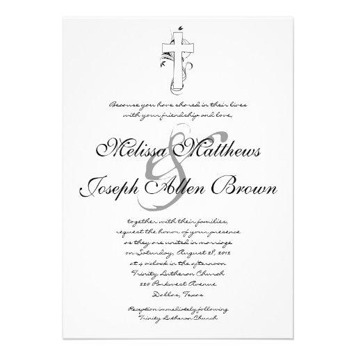 Simple Black Amp White Christian Wedding Invitation