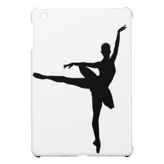 SImple Black & White Dancing Ballerina iPad Mini Cover