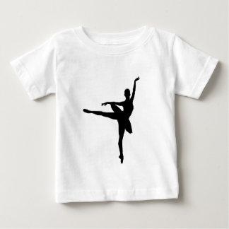 SImple Black & White Dancing Ballerina T-shirt