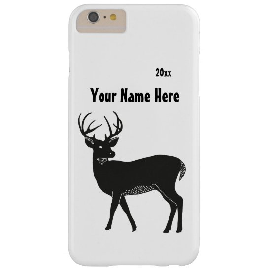 Simple Black & White Deer, Personalized Phone Case