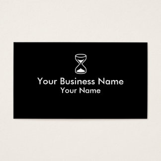 Simple black white hourglass business cards
