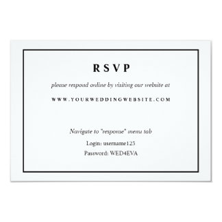 Simple Black & White Online Response Website Card