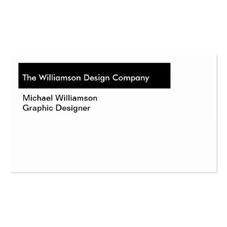 Simple Black White or Custom Color Professional Business Card