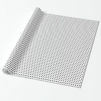 Simple Black & White Polka Dots Elegant Wrapping Paper