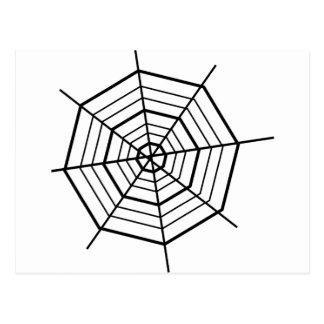 SIMPLE BLACK & WHITE SPIDER WEBS POSTCARD