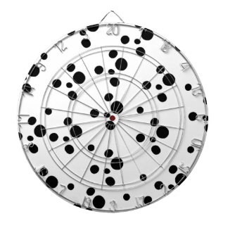 Simple Black & White Spotted Pattern Dart Boards