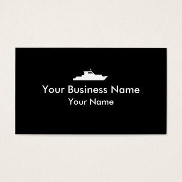 Professional Business Simple black white tug boat business cards