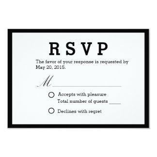 Simple Black & White Wedding Response Cards