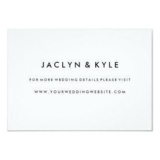 Simple Black & White Wedding Website Insert Card