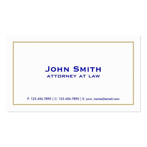 Simple blanco del abogado llano elegante profesion tarjeta personal