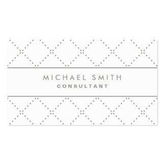 Simple blanco elegante profesional del modelo de p tarjeta de visita