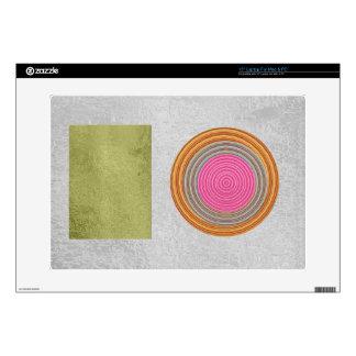 "Simple Blocks n Circles - Silk Satin Surface 15"" Laptop Decals"