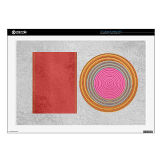 Simple Blocks n Circles - Silk Satin Surface Skin For Laptop