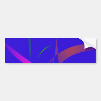 Simple Blue Abstract with Slashing Colors Bumper Sticker