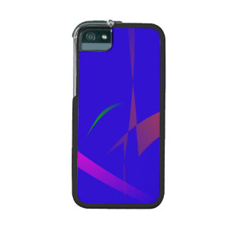 Simple Blue Abstract with Slashing Colors iPhone 5/5S Case